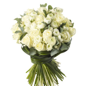 White Rose and Ranuncula Bouquet