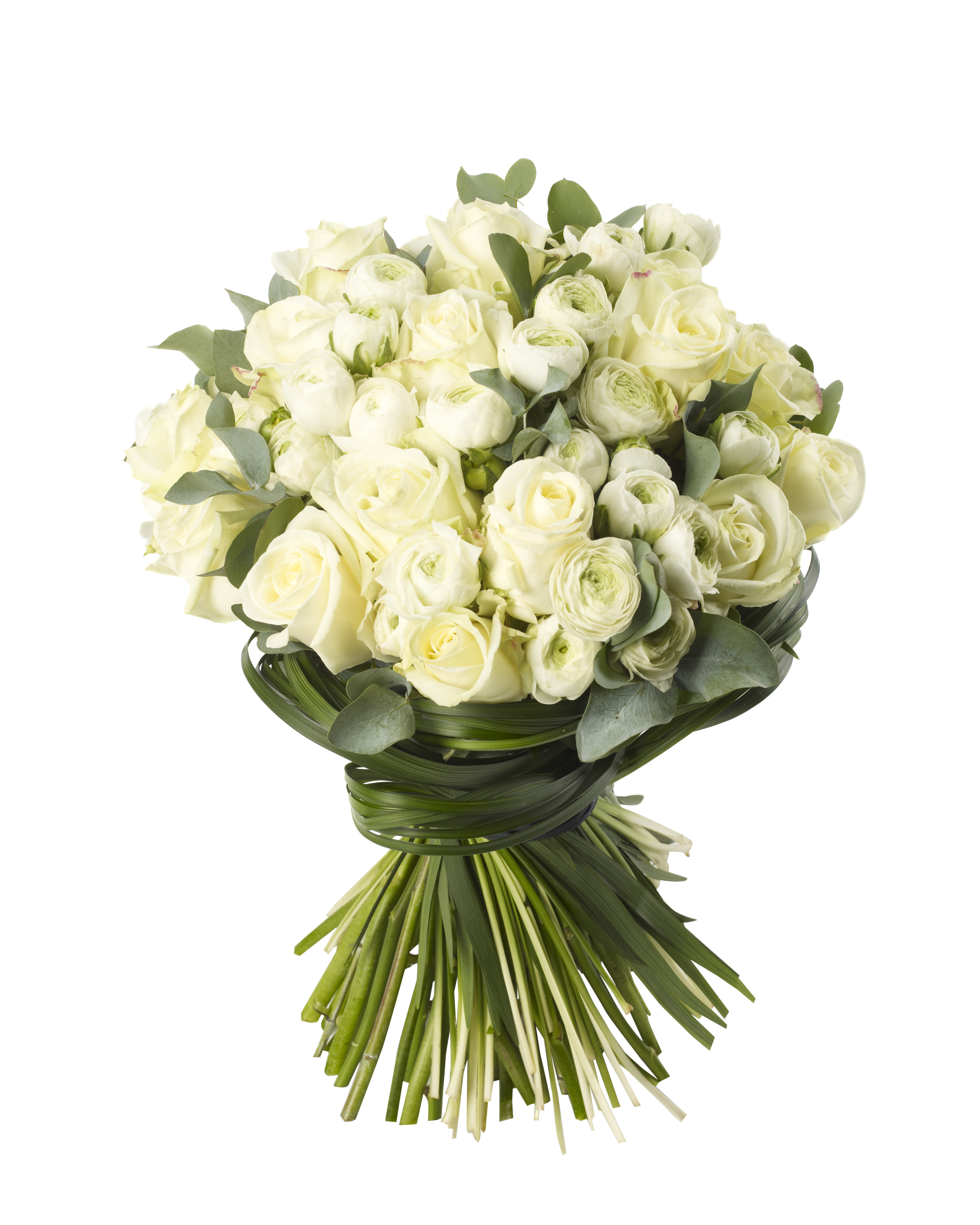 White Rose And Ranuncula Bouquet Ultraviolet London Flowers